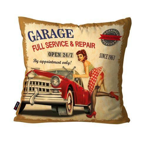 Capa de Almofada Decorativa Avulsa Bege Garage