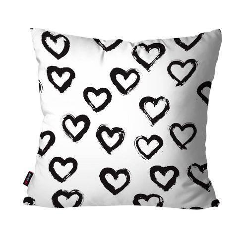 Capa de Almofada Decorativa Avulsa Branco Coração