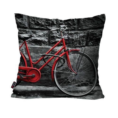 Capa de Almofada Decorativa Avulsa Preto Bicicleta