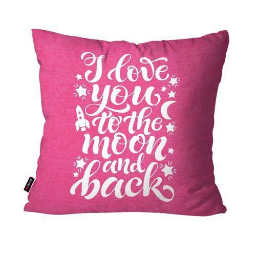 Capa de Almofada Decorativa Avulsa Rosa I Love You