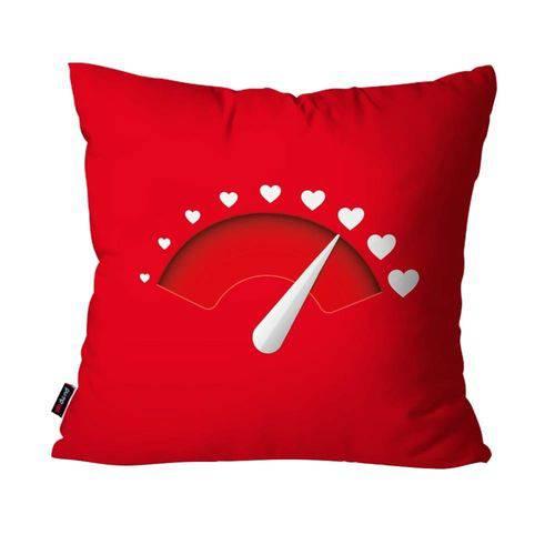 Capa de Almofada Decorativa Avulsa Vermelho Ponteiro Coração