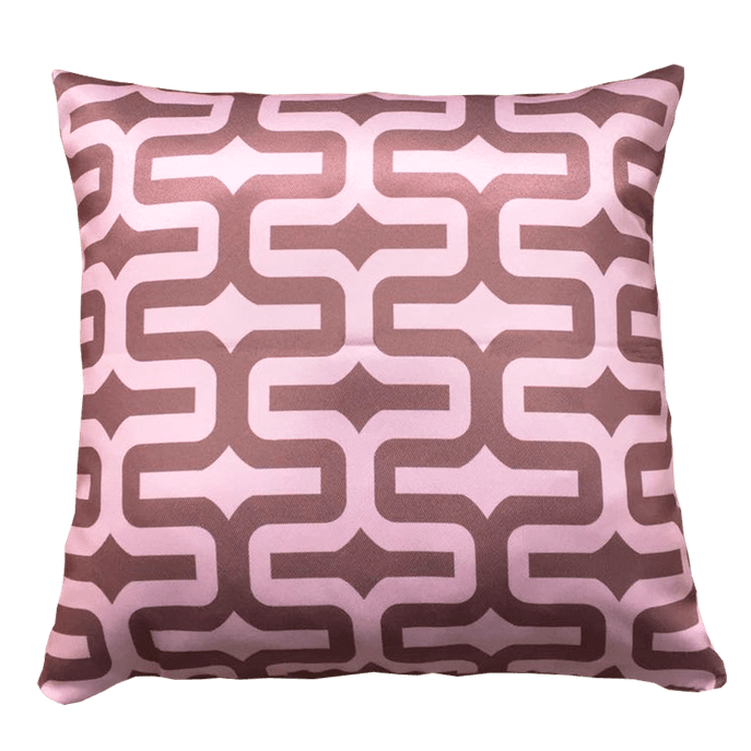 Capa de Almofada Labirinto Rosa