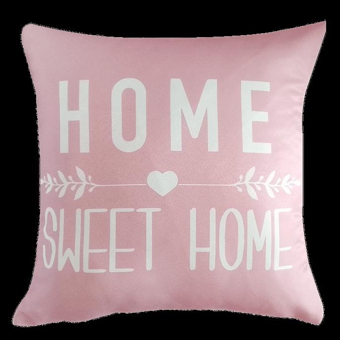 Capa de Almofada Rosa Home Sweet Home