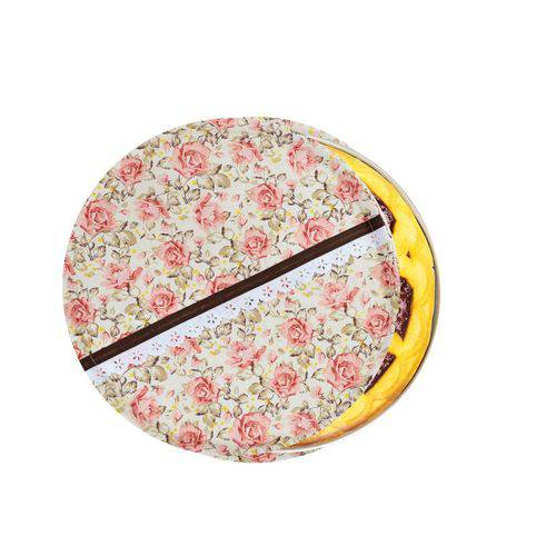 Capa de Assadeira Redonda Floral