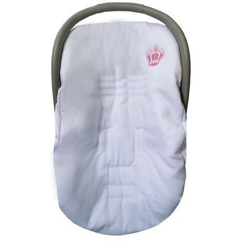 Capa de Bebê Conforto Coroa Rosa