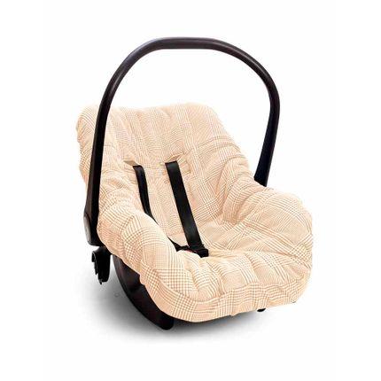 Capa de Bebê Conforto Meu Pequeno Urso - Bege - Hug