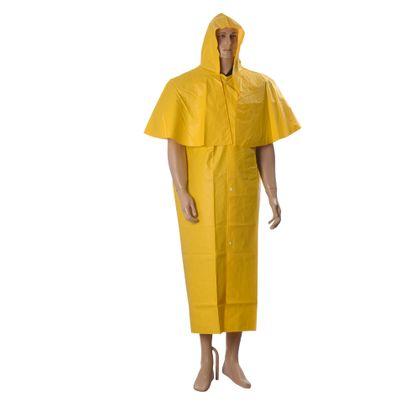 Capa de Chuva em PVC Forrado Tipo Morcego Tamanho 1.20m PROT-CAP Amarelo