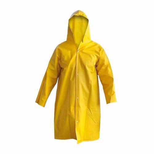 Capa de Chuva Forrada Amarela G - Solda Capa