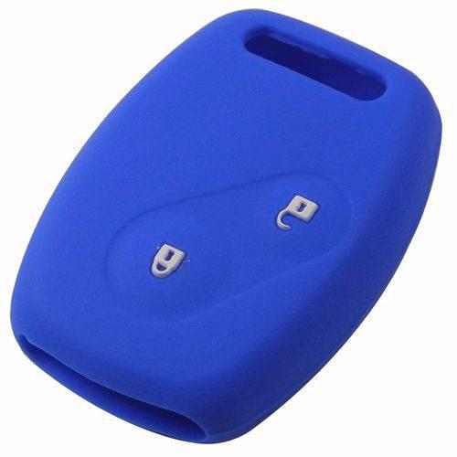 Capa de Silicone Honda 2 Botoes Azul