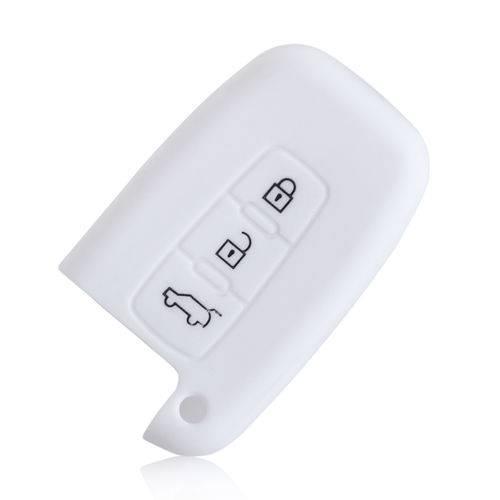 Capa de Silicone Kia 3 Botoes Branca