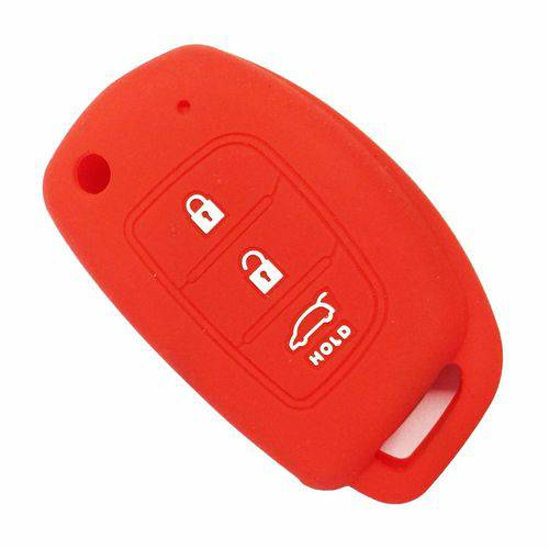 Capa de Silicone para Chave Canivete Hb20 Vermelho.