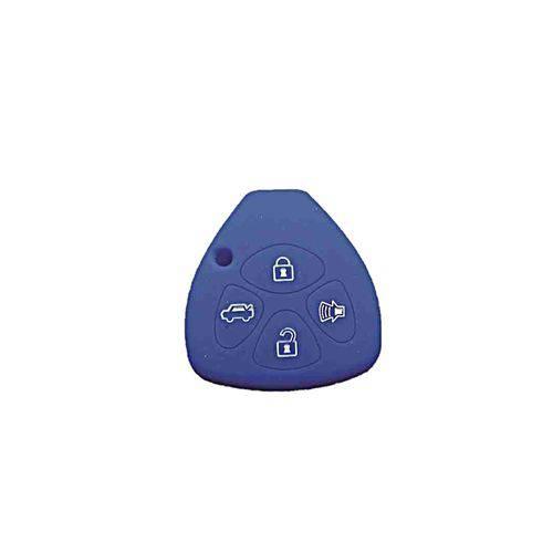 Capa de Silicone para Chave Canivete Hilux e Corolla Azul