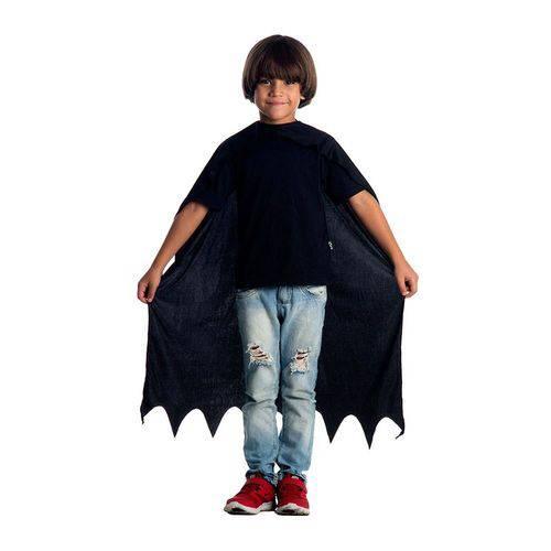 Capa Infantil Sulamericana Standard Batman 80Cm Preta