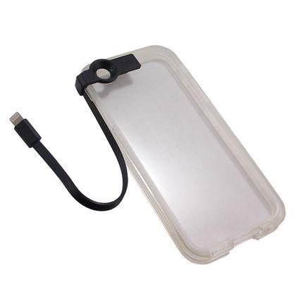 Capa Iphone 6 e 6S Cabo Usb Preto - Idea