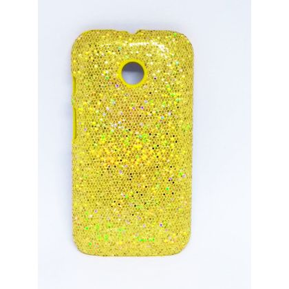 Capa Motorola Moto e Brilho Dourado - IDEA