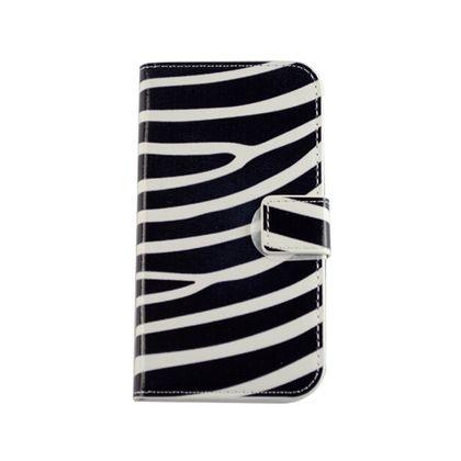 Capa Motorola Moto e Couro Zebra - Idea