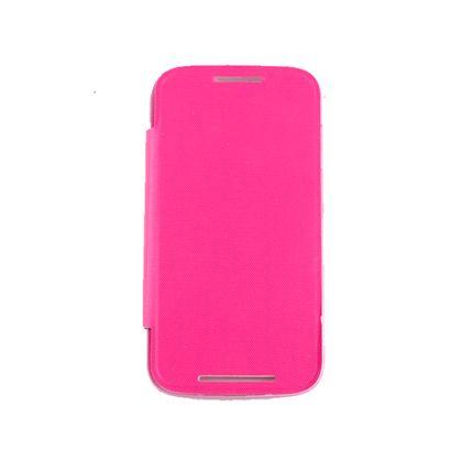 Capa Motorola Moto e Flip Cover Rosa - Idea