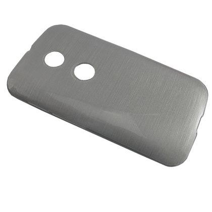 Capa Motorola Moto e Tpu Esmalte Prata - Idea