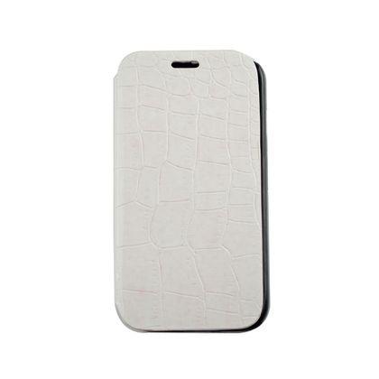 Capa Motorola Moto G Flip Cover Couro Jacare Branco - Idea