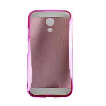 Capa Motorola Moto G2 Pc Metal Listras Rosa - Idea