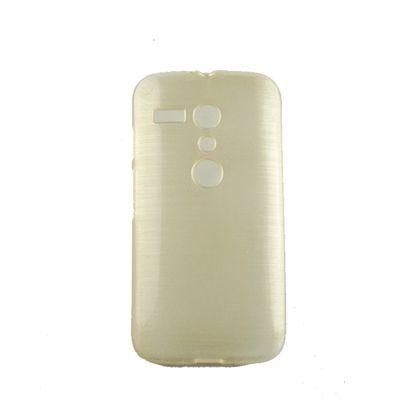 Capa Motorola Moto G Tpu Esmalte Dourado - Idea