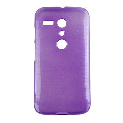 Capa Motorola Moto G Tpu Esmalte Roxo - Idea