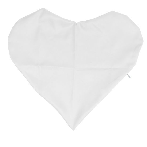 Capa para Almofada de Coração - Branca Unidade