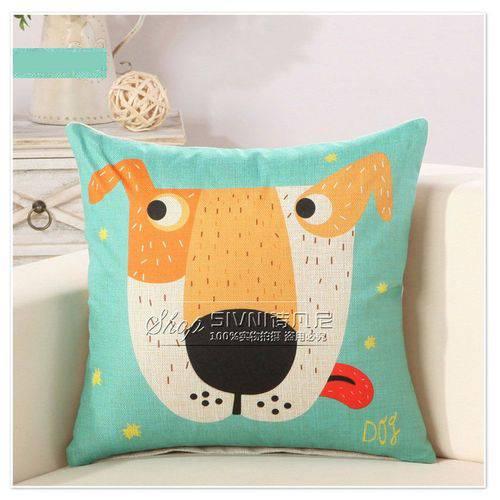 Capa para Almofada Decorativa Infantil Cãozinho Verde