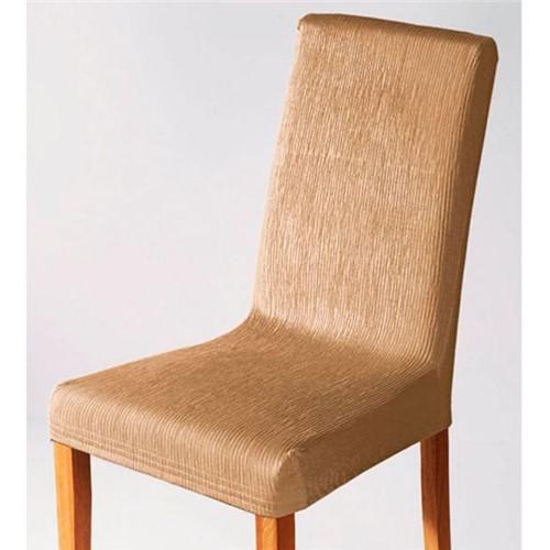 Capa para Cadeira Malha Dupla com Costas Areia Areia