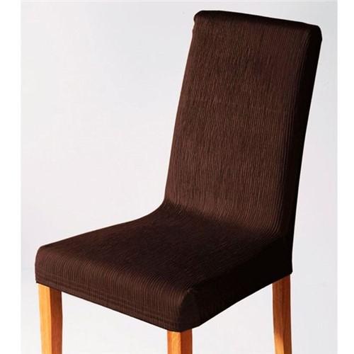 Capa para Cadeira Malha Dupla com Costas Tabaco Tabaco