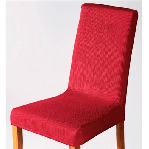 Capa para Cadeira Malha Dupla com Costas Vermelho Vermelho
