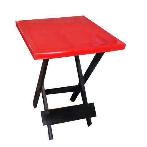 Capa para Mesa Quadrada 60cm X 60cm - Vermelha