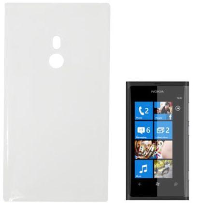 Capa para Nokia 800 Lumia Transparente Liso com PelíCula Protetora