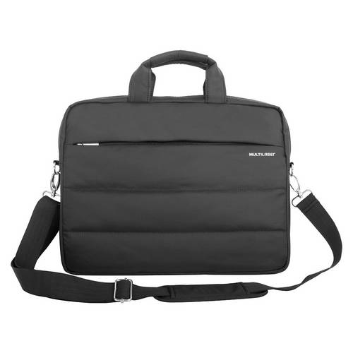 Capa para Notebook Multilaser Bo397 de Nylon com Compartimento Extra Até 15.6 Polegadas - Preta