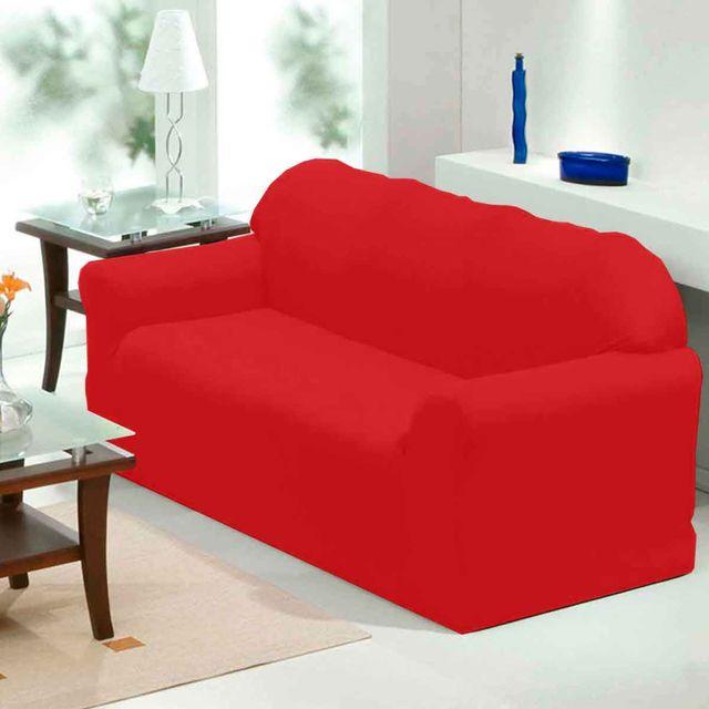 Capa para Sofá 3 Lugares Veneza Solecasa Vermelho Vermelho