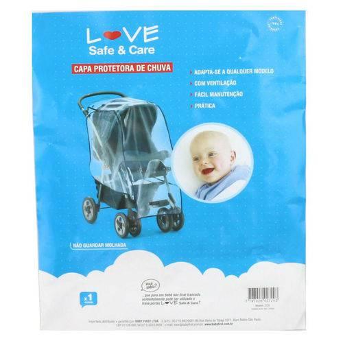 Capa Protetora de Chuva para Carrinho de Bebê - Love