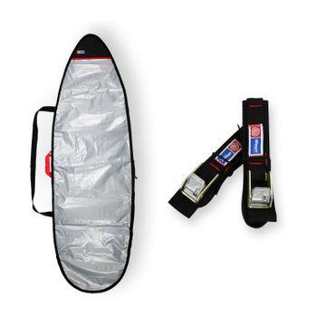 Capa Refletiva Prancha Surf 6'4 a 6'7 + Fita Rack Std