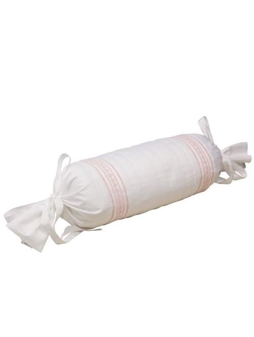 Capa Rolinho Rositas Branca e Rosa 50X40X16cm