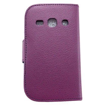 Capa Samsung Galaxy Fame Carteira de Couro Roxo - Idea