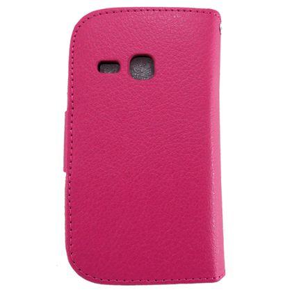 Capa Samsung Galaxy Young Couro Carteira Rosa - Idea