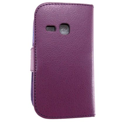 Capa Samsung Galaxy Young Couro Carteira Roxo - Idea