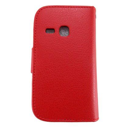 Capa Samsung Galaxy Young Couro Carteira Vermelho - Idea