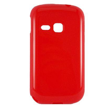 Capa Samsung Galaxy Young Tpu Liso Vermelho - Idea