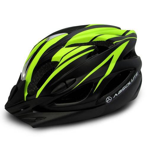 Capacete Bicicleta Led Absolute Nero Amarelo Neon 52-57 Cm