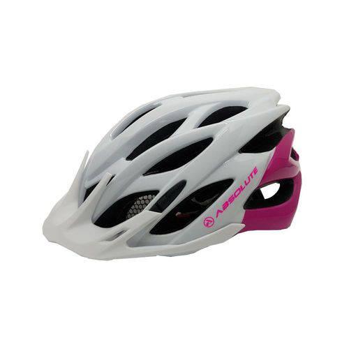 Capacete Ciclismo Absolute Mia Branco/Rosa M