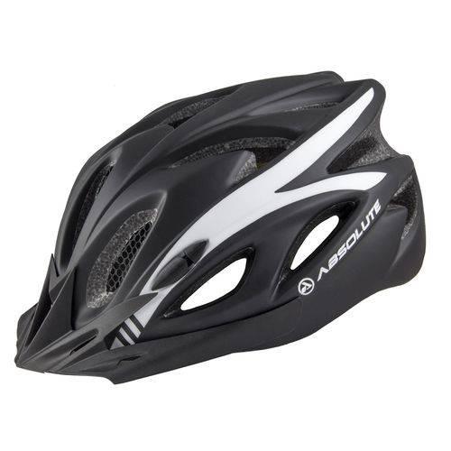 Capacete Ciclismo Absolute Nero com Led Sinalizador M 52-57