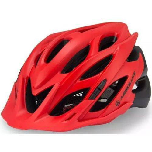 Capacete Ciclismo Absolute Wild Verm/pto Fosco C/ Luz de Led - M/g