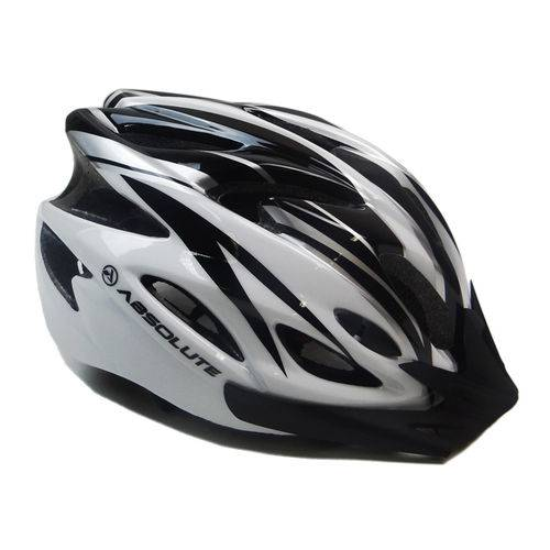 Capacete Ciclismo Absolute WT012 com Pisca Branco e Preto - Absolute