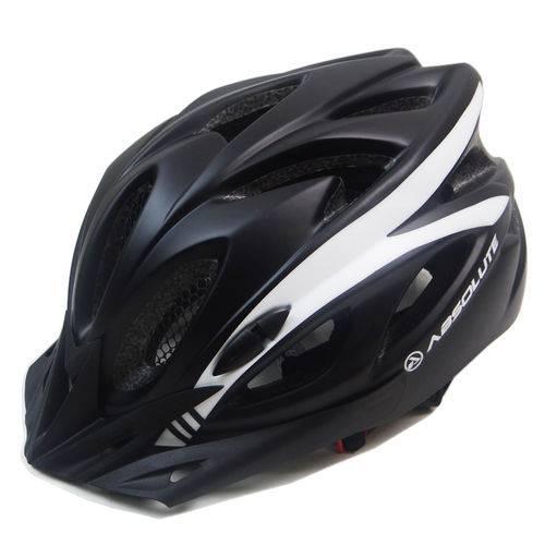 Capacete Ciclismo Absolute Wt012 com Pisca Preto