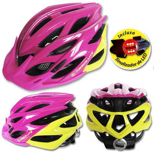 Capacete Ciclismo Bike Absolute Mia Piscaled Rosa